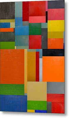 Colorful Collage 3.0 Metal Print by Michelle Calkins