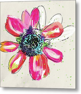 Colorful Daisy- Art By Linda Woods Metal Print