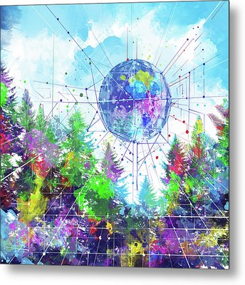 Colorful Forest 3 Metal Print by Bekim Art