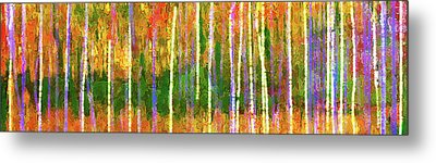 Colorful Forest Abstract Metal Print