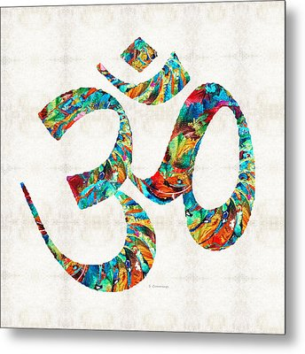 Colorful Om Symbol - Sharon Cummings Metal Print