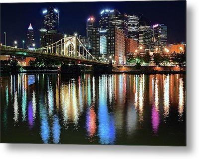 Colorful Pittsburgh Lights Metal Print