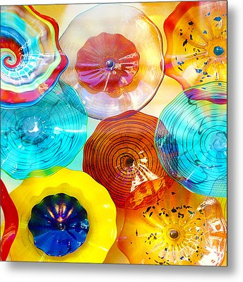 Colorful Plates Metal Print by Artist and Photographer Laura Wrede