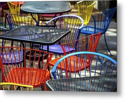 Colorful Seating Metal Print by Karol Livote