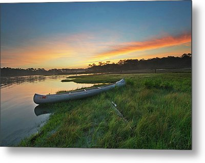 Colorful Sunrise - Assateague Island - Maryland Metal Print by Brendan Reals