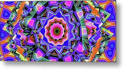 Metal Print featuring the digital art Colors O're Laid by Ron Bissett