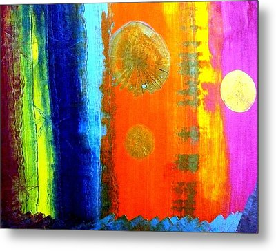 Metal Print featuring the painting Colorz 1 by Piety Dsilva