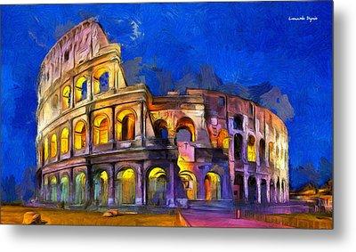 Colosseum Metal Print by Leonardo Digenio