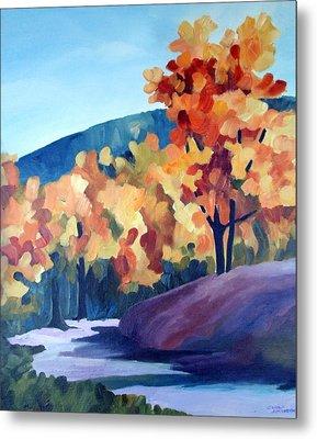 Colourful Autumn Metal Print by Carola Ann-Margret Forsberg
