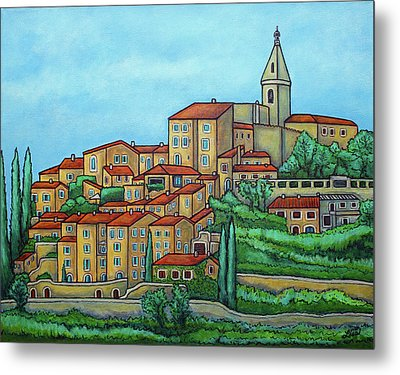 Colours Of Crillon-le-brave, Provence Metal Print by Lisa Lorenz