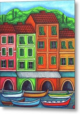 Colours Of Liguria Metal Print by Lisa  Lorenz