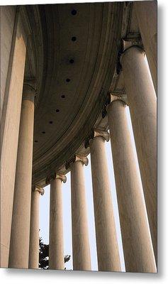 Columns Surround The Jefferson Statue Metal Print by Rex A. Stucky