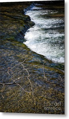 Combo A Stick And Water Metal Print