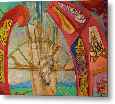 Combustion Tunnel  Metal Print by Lee Plate