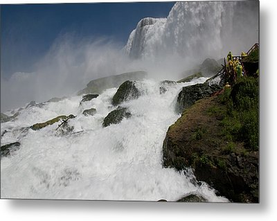 Metal Print featuring the photograph Coming Close To Niagara Falls by Jeff Folger