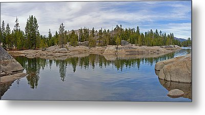 Coming Storm Lake Utica Sierra Nevada Landscape Panorama Larry Darnell Metal Print by Larry Darnell