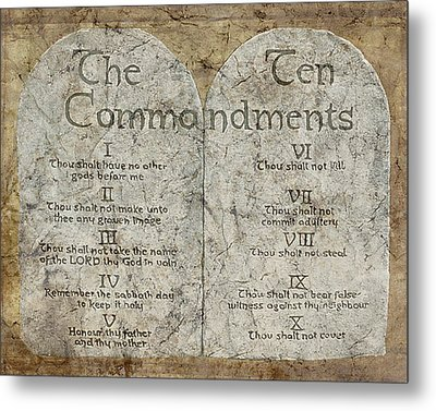 Commandments Metal Print