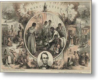 Commemoration Of The Emancipation Metal Print by Everett