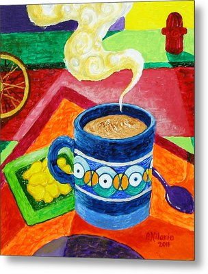 Complementary Coffee 2 Metal Print by Paul Hilario