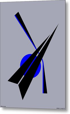 Composition Black Arrow Metal Print by Asbjorn Lonvig
