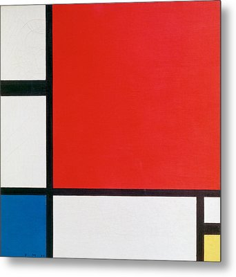 Composition II In Red, Blue, And Yellow - Piet Mondrian Metal Print by War Is Hell Store