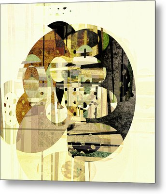 Composition Number Three Abstract Art Metal Print