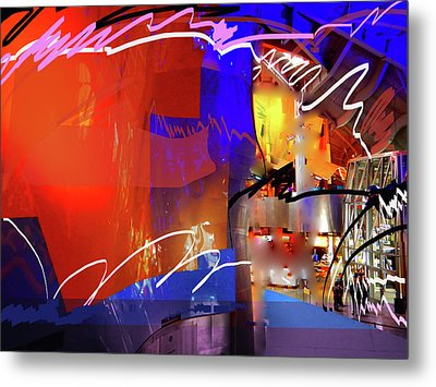 Metal Print featuring the digital art Concert Stage by Walter Fahmy