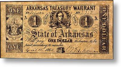 Confederate Banknote Metal Print by Granger