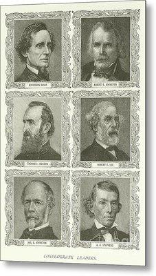Confederate Leaders Metal Print