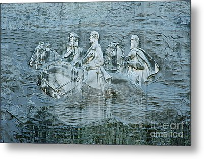 Confederate Relief At Stone Mountain Metal Print by John Greim
