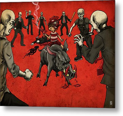 Confrontation Metal Print