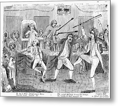 Congressional Pugilists Metal Print by Granger