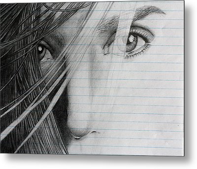 Connelly's Eyes Metal Print by Ted Castor