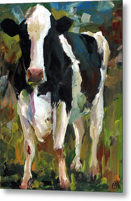 Connie The Cow Metal Print