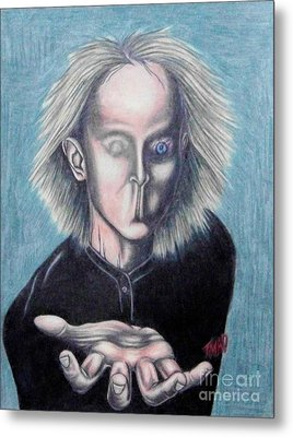 Metal Print featuring the drawing Consciousness by Michael  TMAD Finney