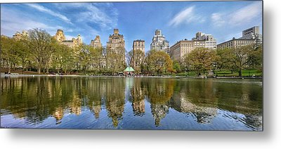 Conservatory Lake Central Park New York City Metal Print