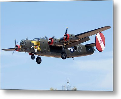 Consolidated B-24j Liberator N224j Witchcraft Deer Valley Airport Arizona April 20 2011  Metal Print by Brian Lockett