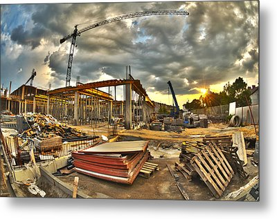 Construction Site Metal Print