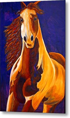 Metal Print featuring the painting Contemporary Horse Painting Painted Sensation by Jennifer Godshalk