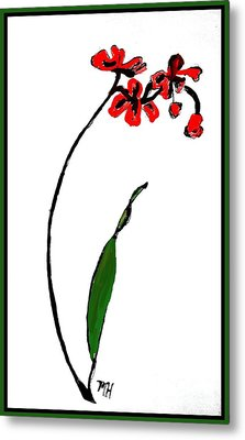 Metal Print featuring the painting Contemporary Orchids by Marsha Heiken
