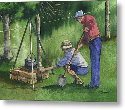 Cookin Beans Metal Print by Marsha Elliott