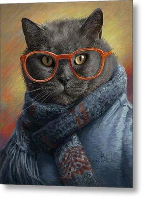 Cool Cat Metal Print