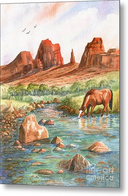 Metal Print featuring the painting Cool, Cool Water by Marilyn Smith