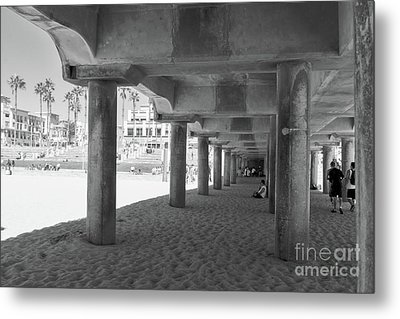Metal Print featuring the photograph Cool Off In The Shade Of The Pier by Ana V Ramirez