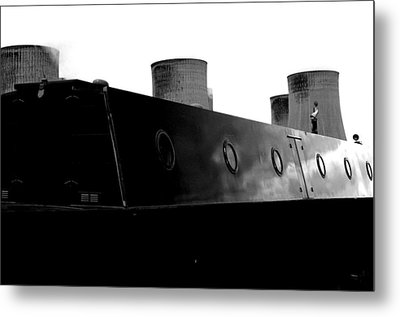 Cooling Barge Metal Print by Jez C Self
