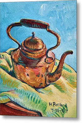 Copper Teapot Metal Print