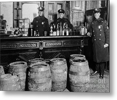 Cops At The Bar Metal Print by Jon Neidert