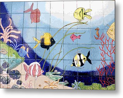 Coral Reef Whimsy Metal Print by Dy Witt