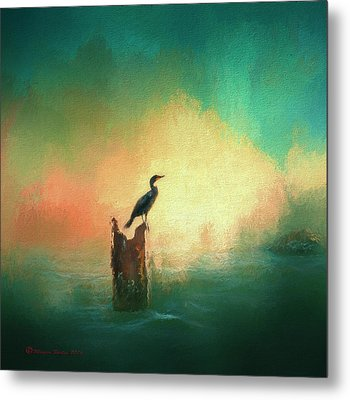 Cormorat Sunset Metal Print by Marvin Spates