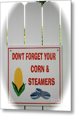 Metal Print featuring the photograph Corn And Steamers by Beth Saffer
